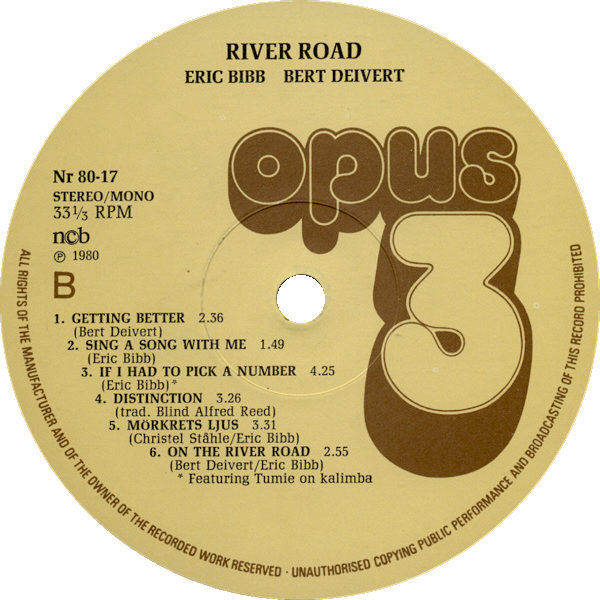 RIVER ROAD LP LABEL